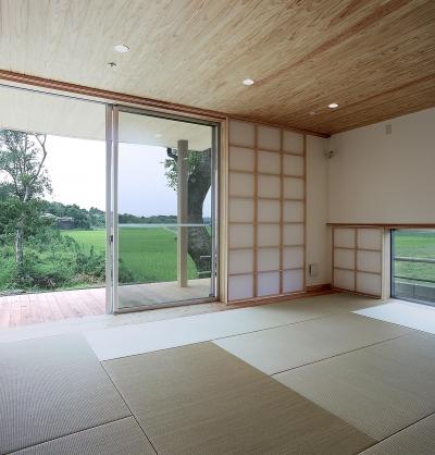 寝室 (高木町の家~霧島連山を望む家~)