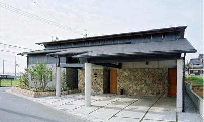 混構造の家 (北側外観)