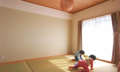 練馬区 M邸 穏やかな陽の当たるリビング・ダイニング (和室)