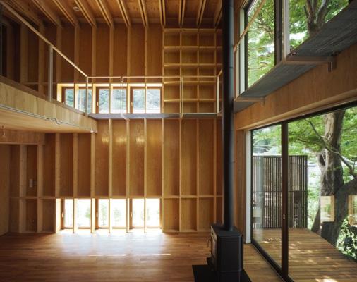材木座の家の部屋 LDK-2(撮影:淺川敏)