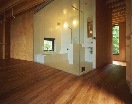 材木座の家の部屋 浴室(撮影:淺川敏)