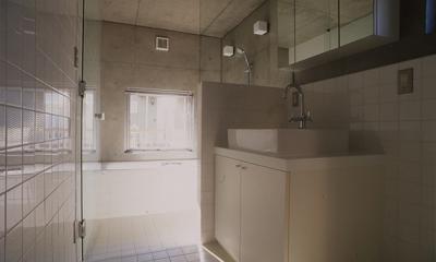 海老名の家 (浴室(撮影:淺川敏))