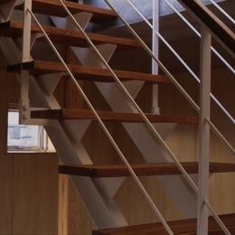 海老名の家 (階段(撮影:淺川敏))