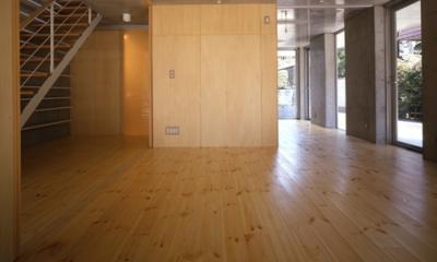 西荻の家 (1階-間仕切りopen(撮影:淺川敏))