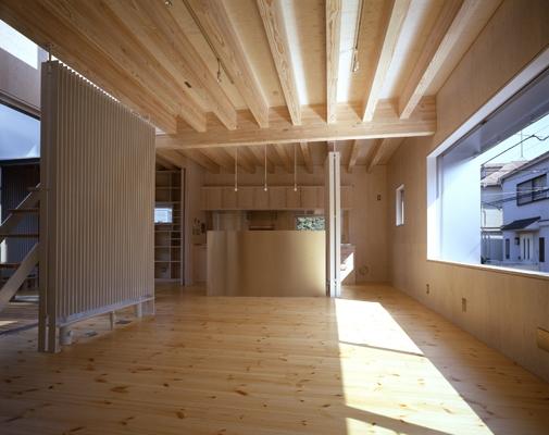 西荻の家の部屋 LDK(撮影:淺川敏)
