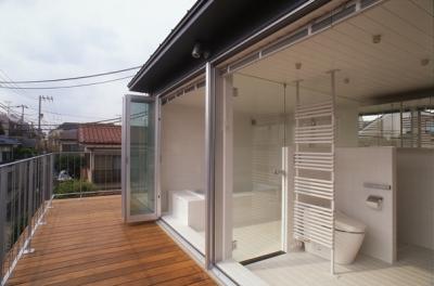 浴室(撮影:淺川敏) (代々木西原の家)
