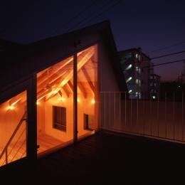 目黒南の家 (外観-屋上テラス(撮影:淺川敏))