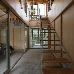 秦野の家 (階段(撮影:淺川敏))