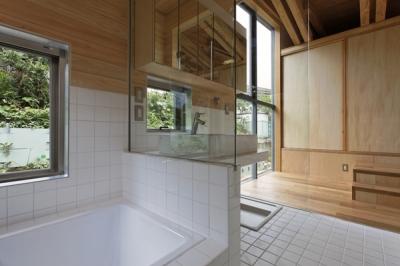 浴室(撮影:淺川敏) (秦野の家)