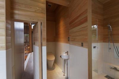 トイレ-open(撮影:淺川敏) (秦野の家)