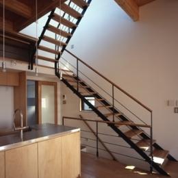 日吉の家 (屋上に続く室内階段(撮影:淺川敏))