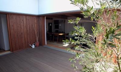 小さなコートハウス (コートよりDKを見る)