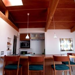 オープンキッチン (小さなコートハウス)