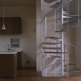 螺旋階段(撮影:淺川敏) (五反野の家)