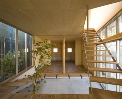階段(撮影:淺川敏) (秋谷の家)