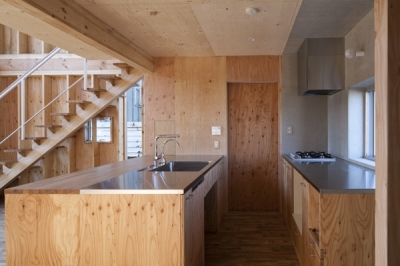 キッチン(撮影:淺川敏) (上麻生の家)