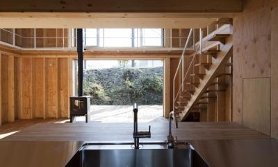 上麻生の家 (キッチンからの眺め(撮影:淺川敏))