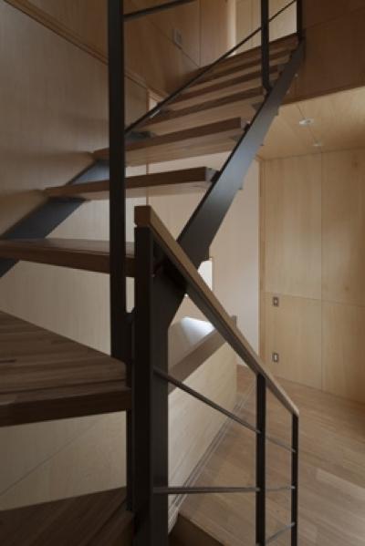 階段(撮影:淺川敏) (武蔵境の家)