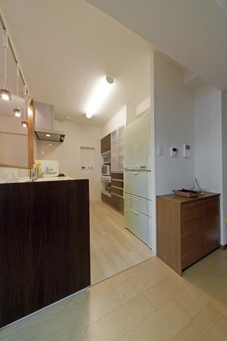 ルームシアターのある暮らしの部屋 キッチン