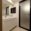 物件購入からリノベーション、ローン手続きまで一任できる楽しい「中古リノベ」が実現の写真 洗面室
