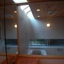 トップライトのある浴室