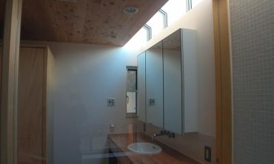 厚木の家 (トップライトのある洗面)