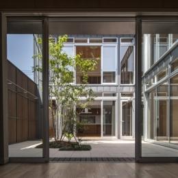 上大岡の家 (中庭(撮影:淺川敏))