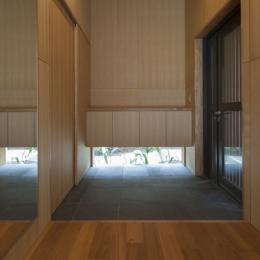 狛江の家 (玄関(撮影:淺川敏))
