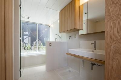 浴室(撮影:淺川敏) (松原の切妻)