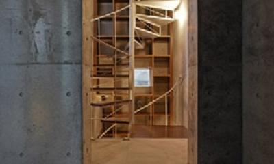 KEELS −四谷四丁目プロジェクト (螺旋階段1(撮影:淺川敏))