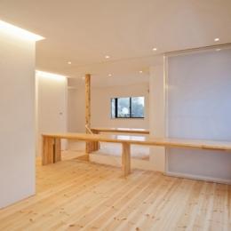 『岩槻の家』可変間取りの子世帯とペットと暮らす親世帯の二世帯住宅 (LDK-2(撮影:永石写真事務所))
