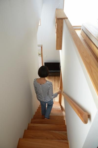 南大塚の住宅〜故郷の土間がある家〜 (階段)