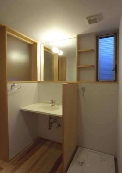 洗面化粧室 (南大塚の住宅〜故郷の土間がある家〜)