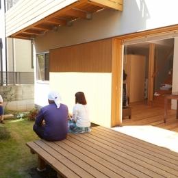 庭 (南大塚の住宅〜故郷の土間がある家〜)