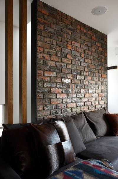 アンティーク煉瓦の壁 (清潔ヴィンテージ)