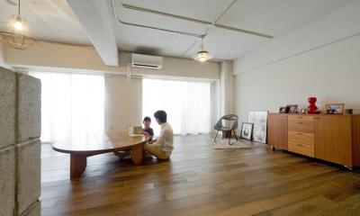 使用する素材や設備も、自分たちらしく。好きなモノで造ったちょうどいい空間にリノベーション (リビングダイニング)