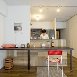使用する素材や設備も、自分たちらしく。好きなモノで造ったちょうどいい空間にリノベーション-ダイニングキッチン