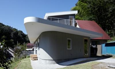 外観2(撮影:鳥村鋼一)|陽傘の家