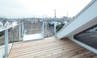 石神井台の家 (屋上デッキ(撮影:鳥村鋼一))
