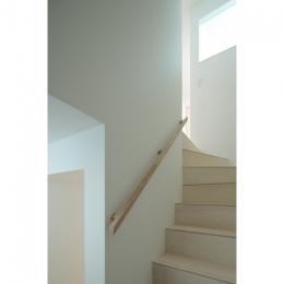 石神井台の家 (階段(撮影:鳥村鋼一))