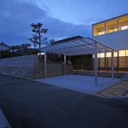 ロフトとデンの家 (外観夜景)
