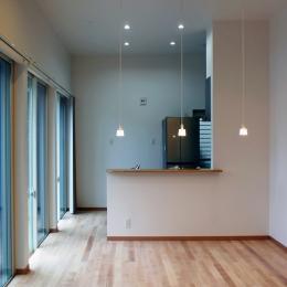 House-F 中庭ロフト付き住宅 (3.5Mの天井高リビング)
