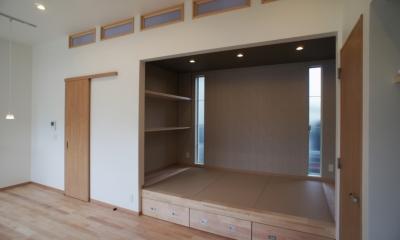 コアガリの眺め|ロフトとデンの家 -立体的な段差が家族のつながりをうむ住宅-