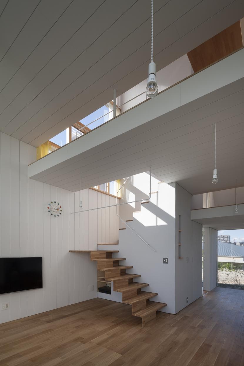 風景を通す家の写真 リビングルーム