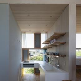風景を通す家 (キッチン)