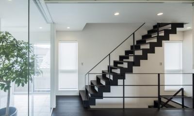 階段1(撮影:藤村泰一)|卯之町の家