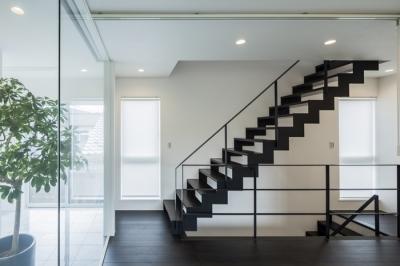 卯之町の家 (階段1(撮影:藤村泰一))