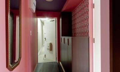 アパルトマンみたいなセカンドハウス リノベーション (玄関)