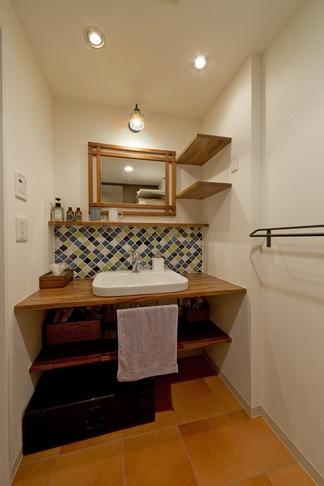 大好きなインテリアに囲まれて「すっきり」暮らすSimple Lifeの写真 洗面所