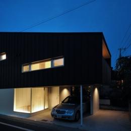 下井草の家-2 (外観夜景)
